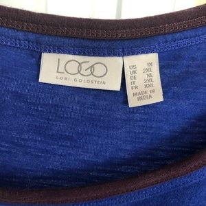 LOGO by Lori Goldstein Tops - LOGO cotton top Size 1x
